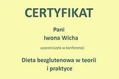 Certyfikat dietetyk