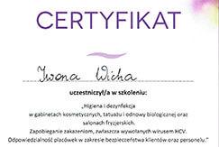 Certyfikat higiena